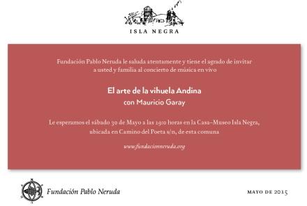 Invitacion Concierto Vihuela Andina